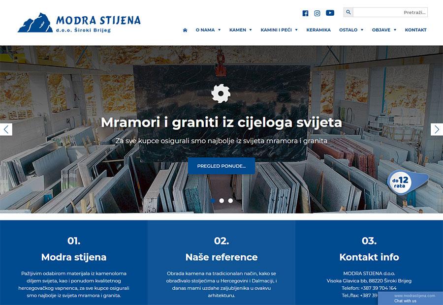 Nove webshop stranice www.modrastijena.com
